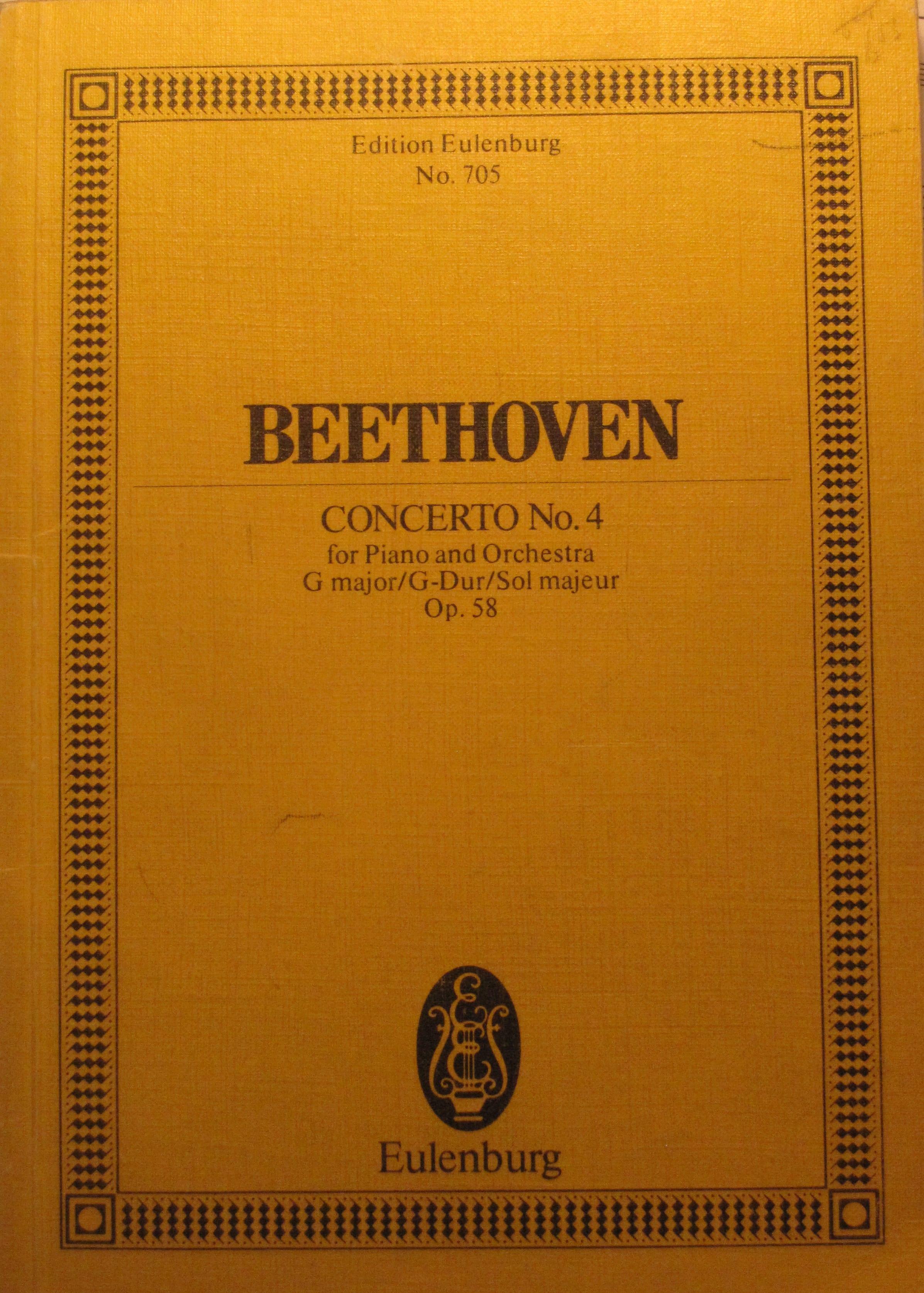 Beethoven : Klavier-konzert G Dur . Sol Majeur pauer G Major Opus 58.